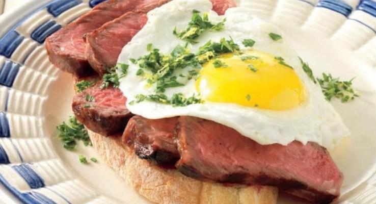 استیک و تخم مرغ با سس گرمولاتا - فروشگاه كباب پز آتش مهر
