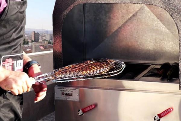 امکان پخت کبابی یکدست(هنگام وزش باد)با کباب پز سری ونوس 102 آتش مهر
