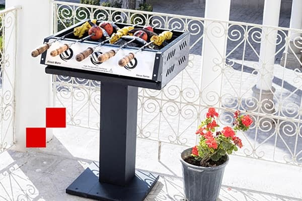 کباب پز و باربیکیو ونوس 100 با پایه جدید - آتش مهر تولید کننده پیشرو کباب پز و باربیکیو به سبک ایرانی