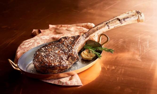 گوشت کباب شده با سس ماسکارپونه