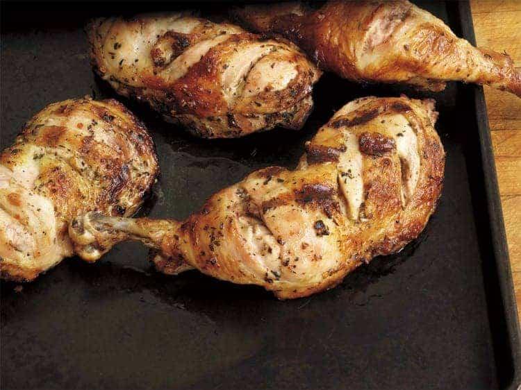 گریل کردن ران مرغ با کباب پز استیل ۱۰۰ آتش مهر