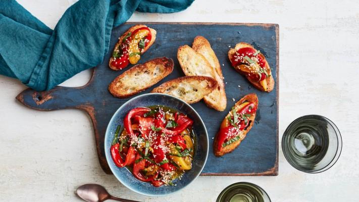 غذای ایتالیایی بروتسکا3- کباب پز آتش مهر