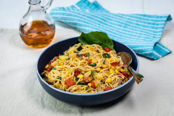 پاستا سبزیجات - کباب پز آتش مهر