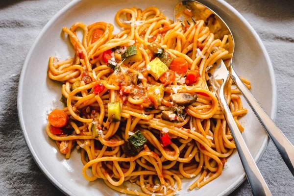 پاستا سبزیجات-باربیکیو و کباب پز آتش مهر