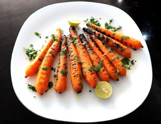 هویج کباب شده با کره-آتش مهر